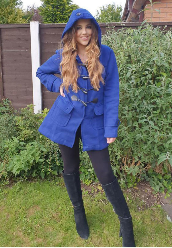 Plus Size Royal Fleece Hooded Toggle Jacket