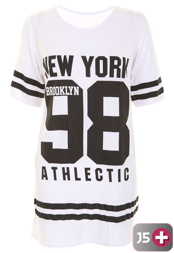 Plus Size Yellow New York 98 Oversize T-Shirt