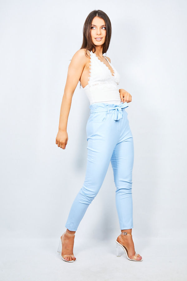 PU Aqua Belted Trouser