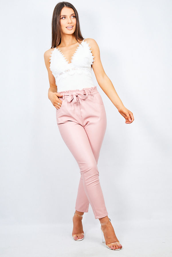 PU Dusty Belted Trouser