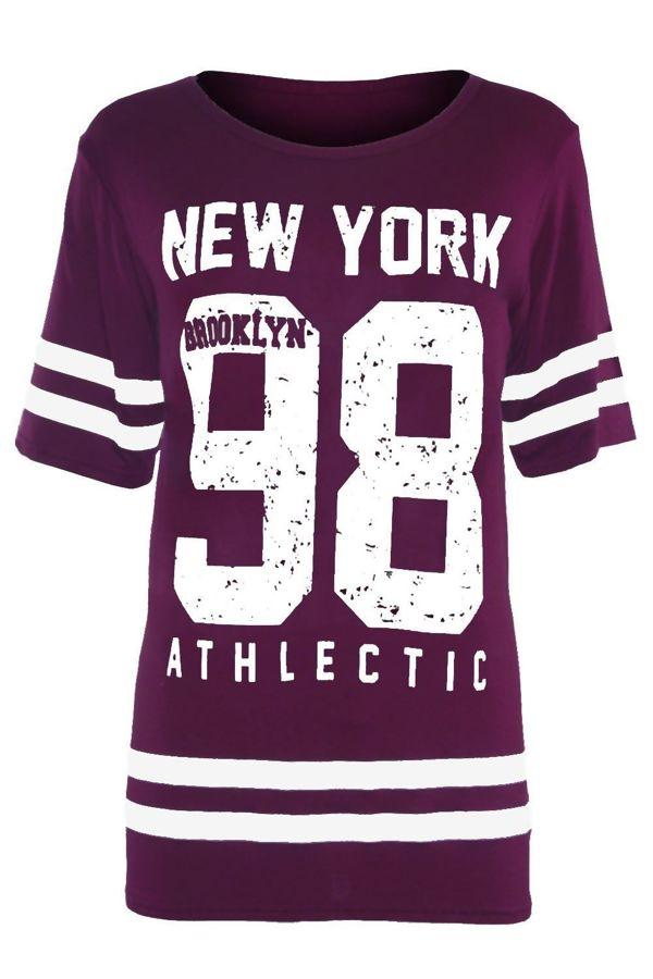 Purple New York 98 Oversize T-Shirt