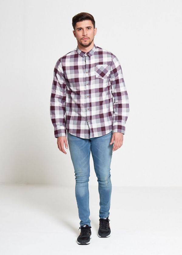 Purple Persuader Bold Checked Shirt