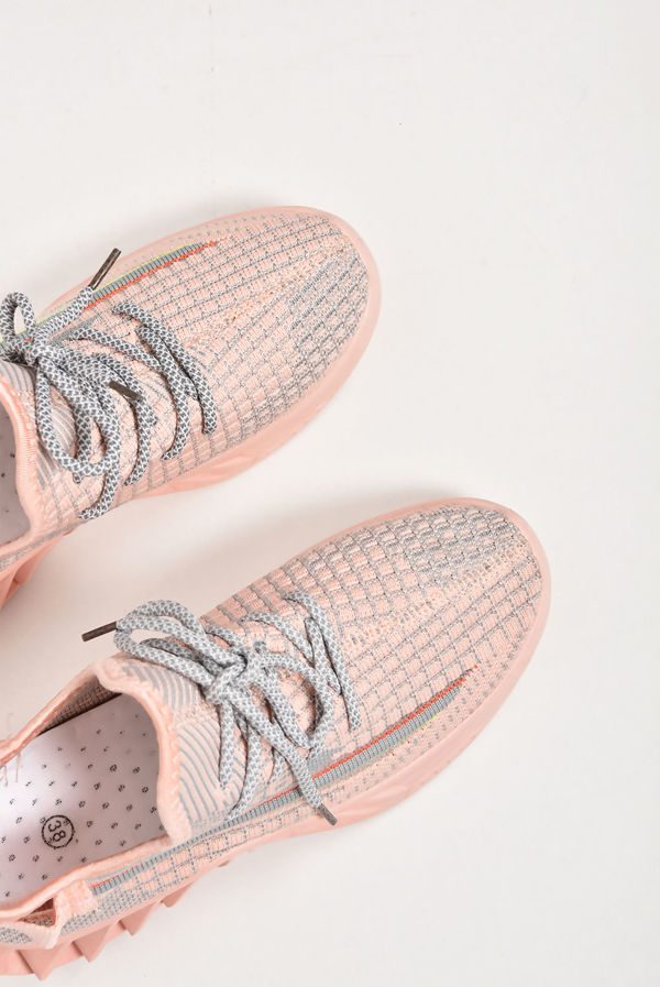 Pink Knit Sock Runner Trainers