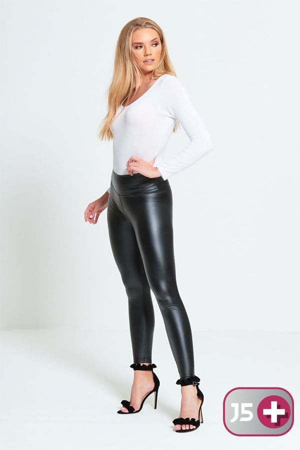 Plus Size Black Skinny High Waist Leggings
