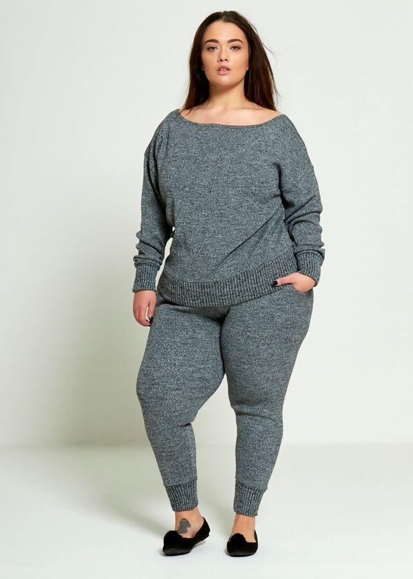 Plus Size Charcoal Lounge Wear Set Preorder