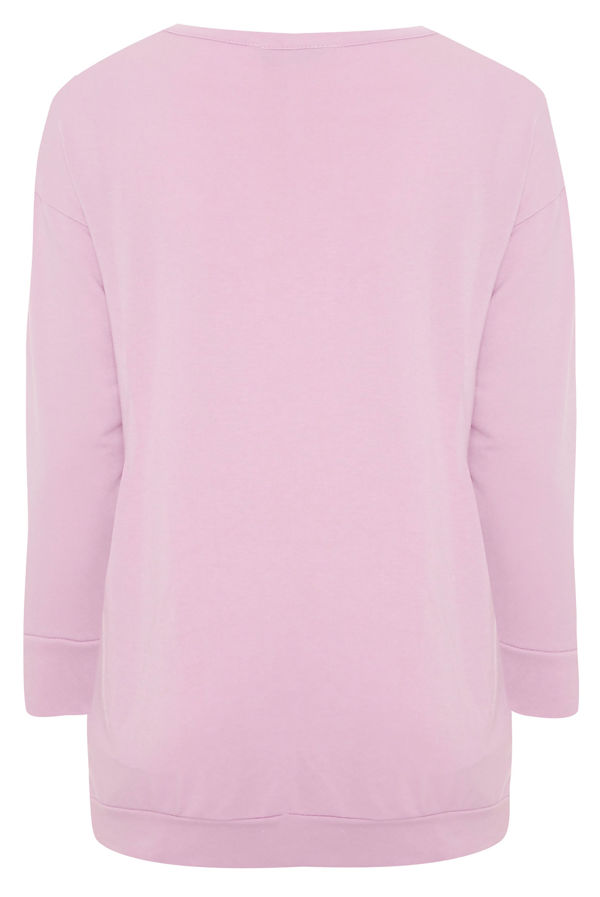 Plus Size Pink Oh My Dior! Print Jumper