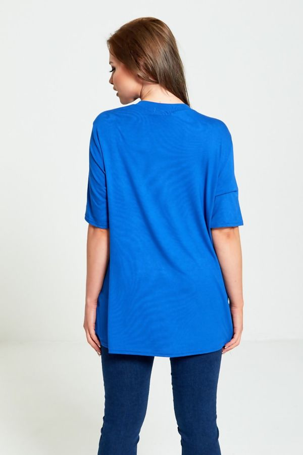 Plus Size Royal with Trio Tape T-Top