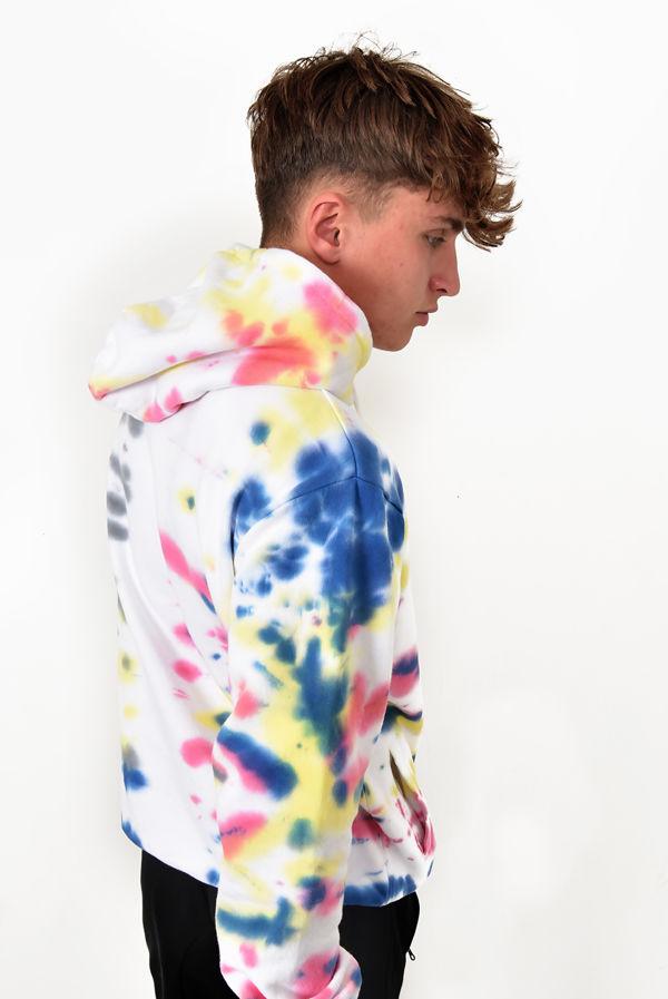 Rainbow Tie Dye Fleece Dario Hoody