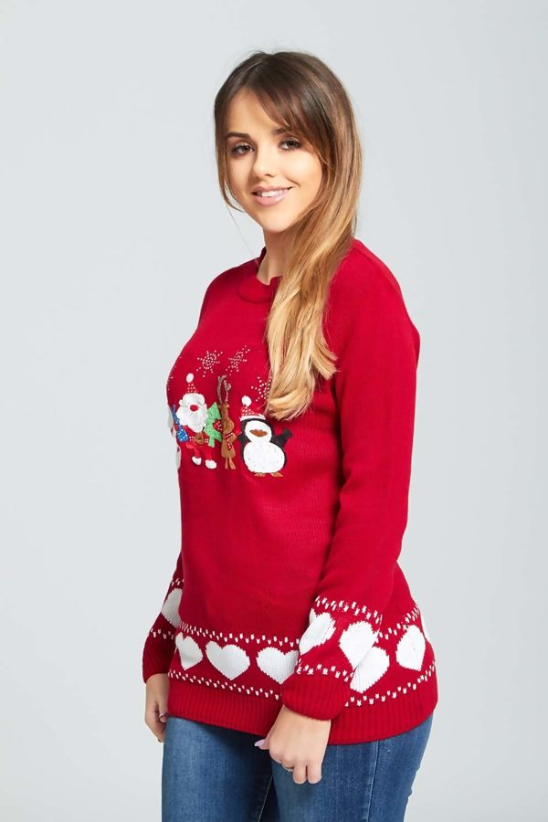 Red Christmas Eve Jumper
