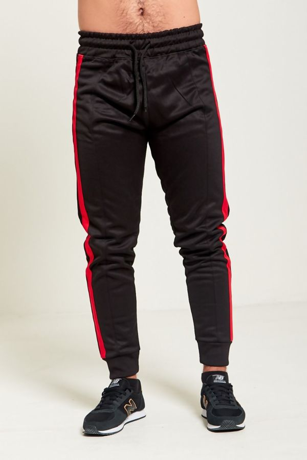 Red Double Stripe Jogging Bottom
