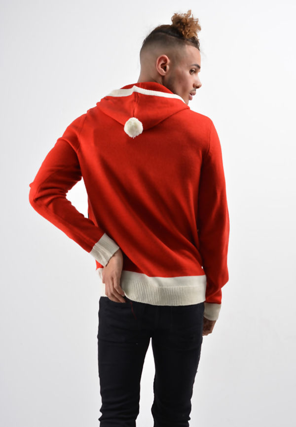 Red Elf And Santa Suit Christmas Jumper
