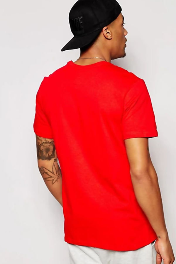 Red Nike T-Shirt With Embroidered Swoosh