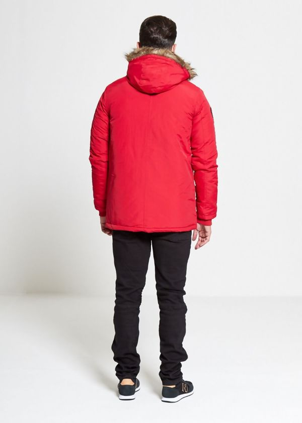 Red Noel Fur Hood Parka