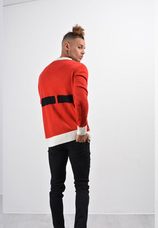 Red Santa Long Sleeve Christmas Jumper