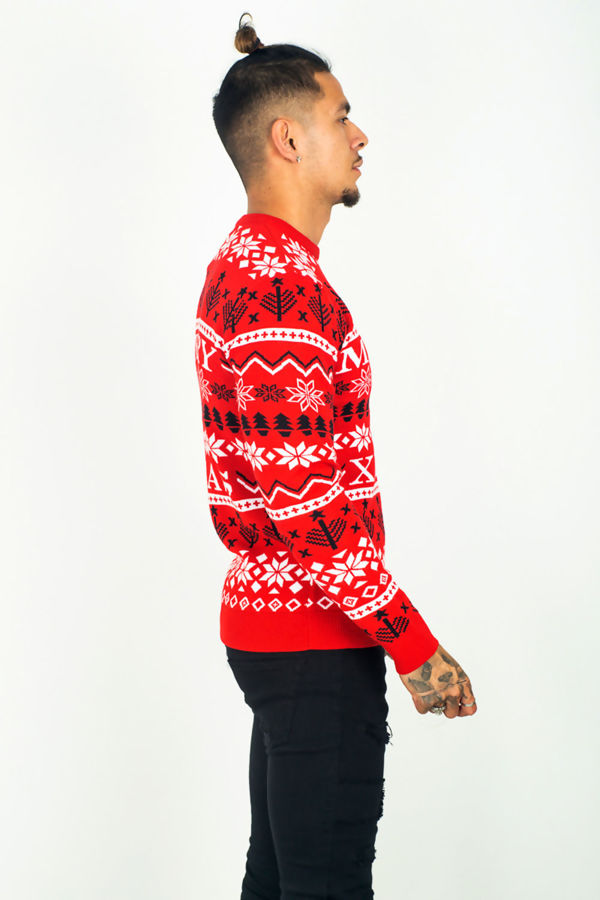 Red Snowflake Merry Alavus Christmas Jumper Pre-Order