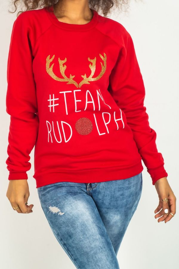 Red Team Rudolph Sweat Shirt