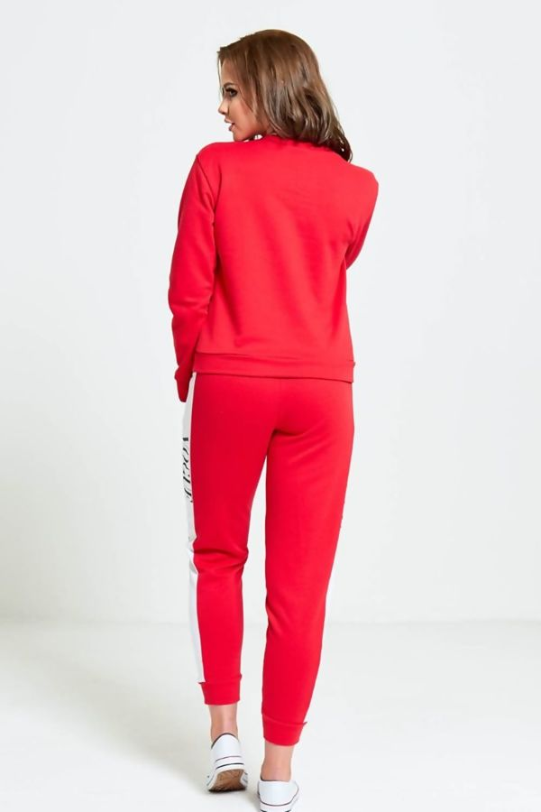 Red VOGUE Print Tracksuit