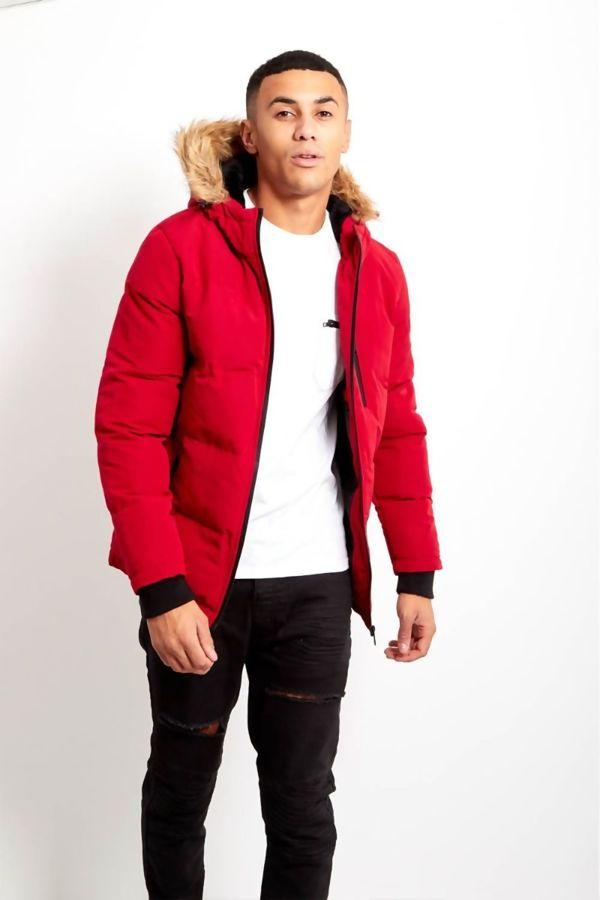 Red WindBreaker Polar Parka