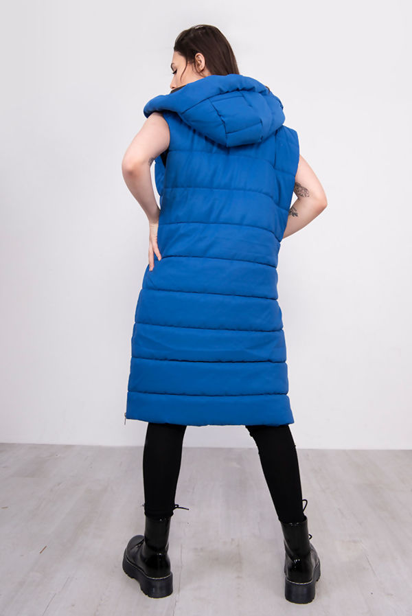 Royal Longline Hooded Puffer Gilet Size 10