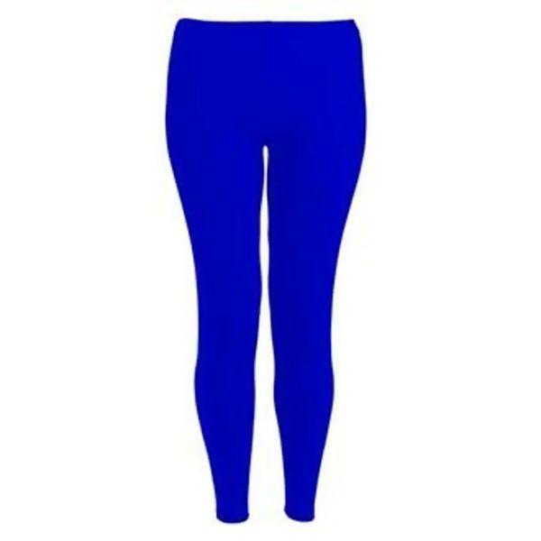 Royal Blue Plain Stretchable Viscose Leggings