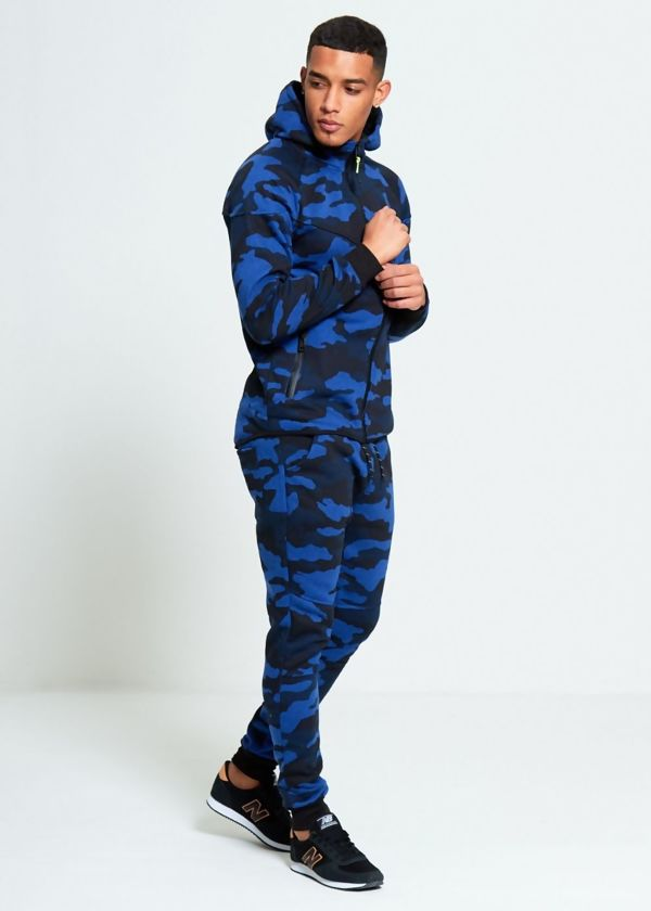Royal Camo Skinny Fit Tracksuit