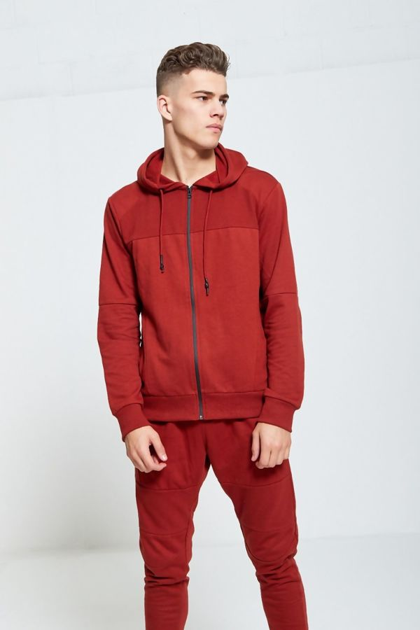 Rust Skinny Fit Panel Tracksuit
