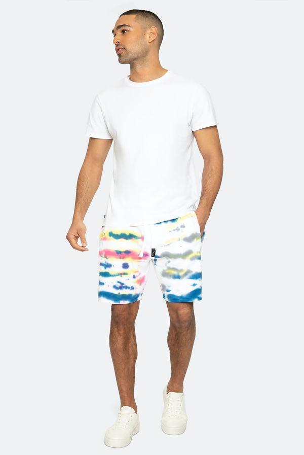 Rainbow Tie Dye Jaylen Fleece Shorts