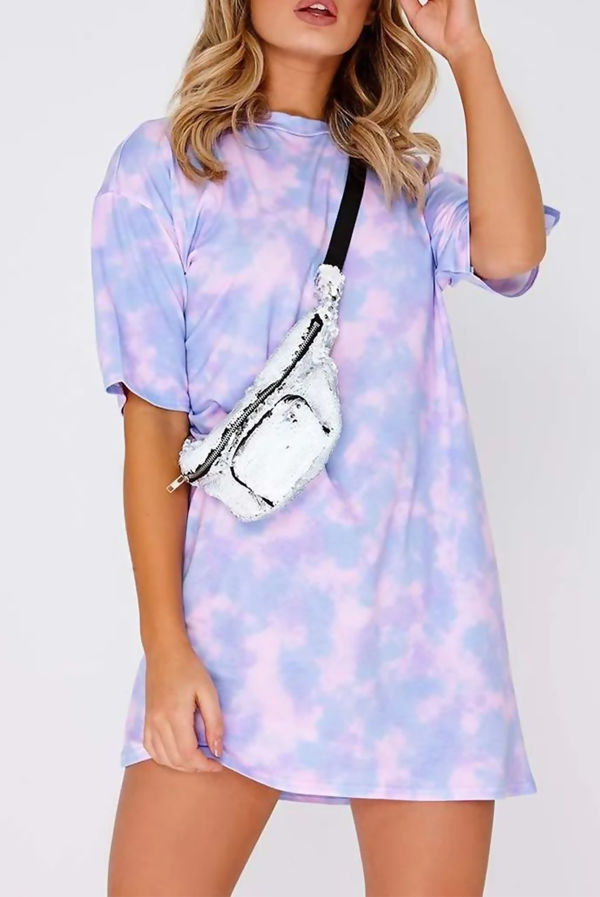 Rainbow Tie Dye Oversized T-Shirt Dress