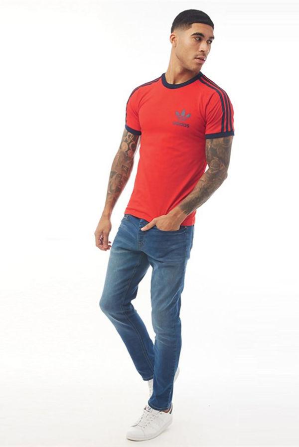 Red Adidas California Originals Sport Essential T-Shirt