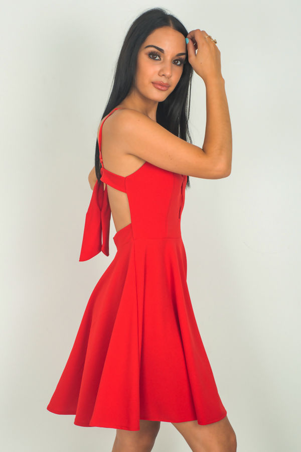 Red Back Knot Dress