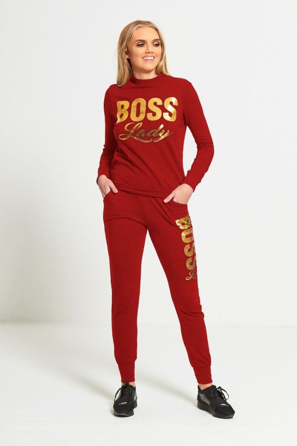Rust Boss Lady Customized Tracksuit