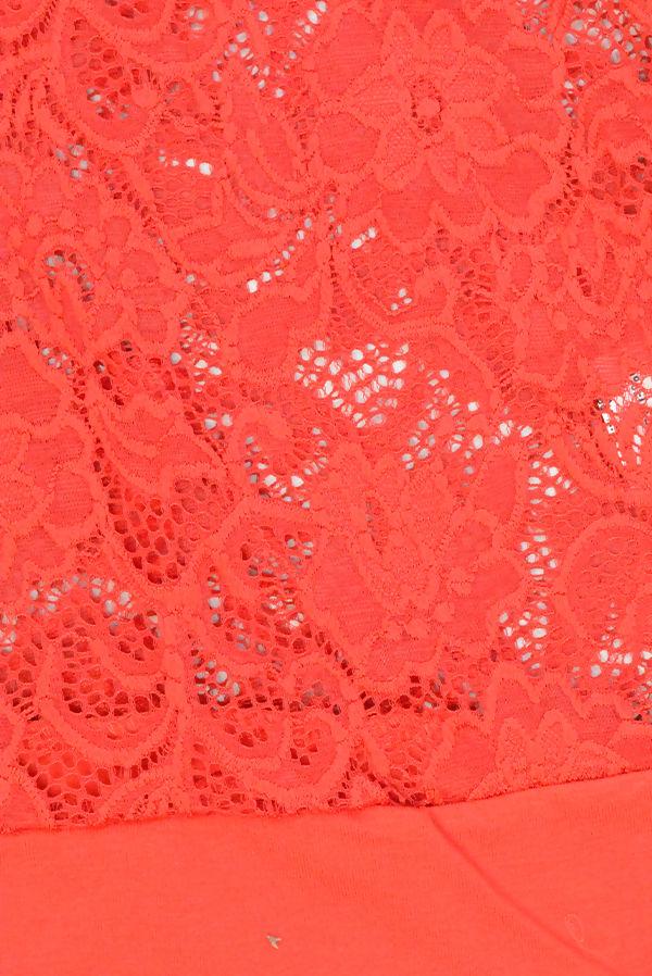 Red Floral Bodysuit