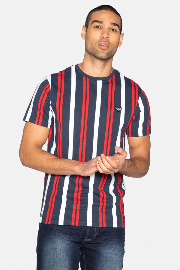 Red Griffin Stripe Cotton T-Shirt