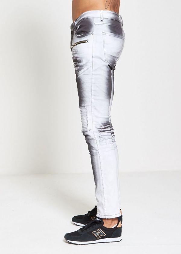 Ribbed Biker Skinny Fit Jeans