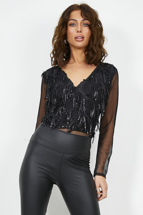 Sequin Embellished Bodysuit