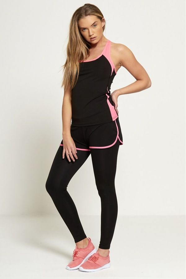 Shorts Overlay Active Wear Tracksuit