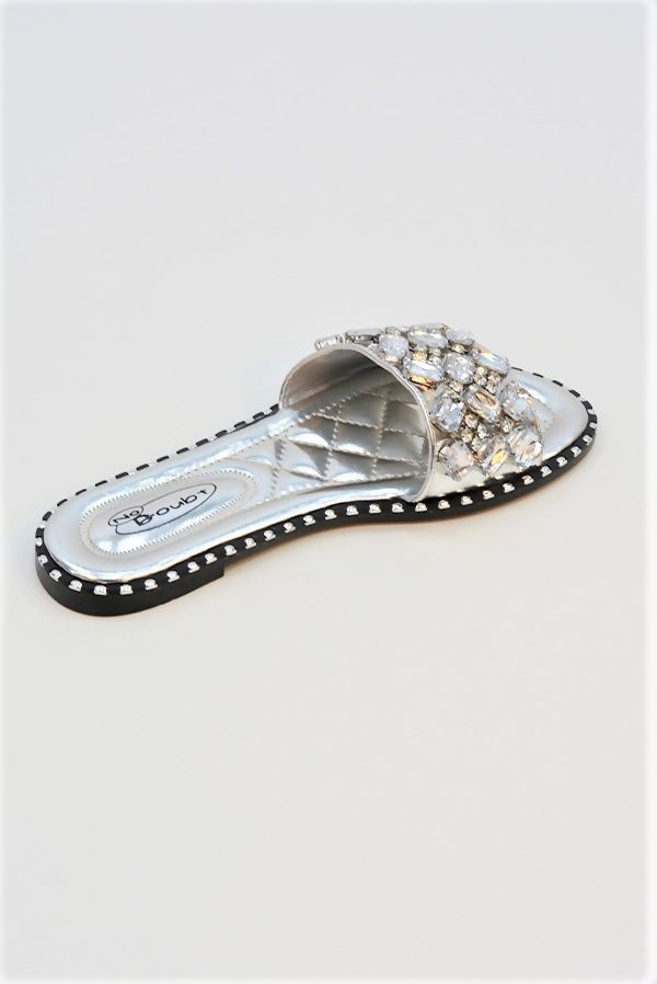 Silver Diamante Sandals