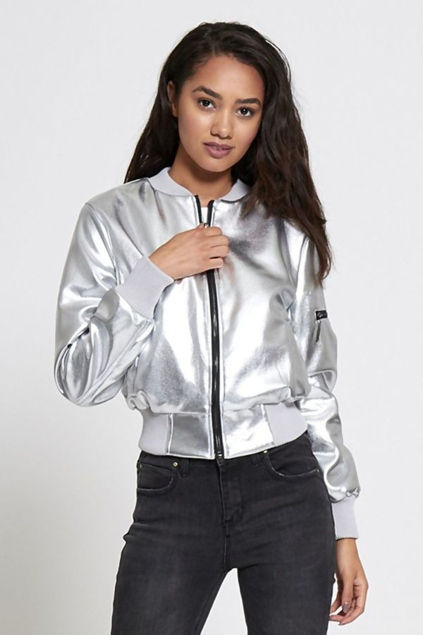 Silver Premium Bomber Jacket