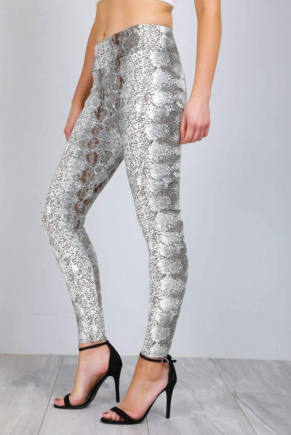 Snake High Waist Vinyl Leggings