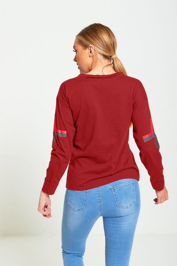 Solo Red Tokyo Long Sleeve Top