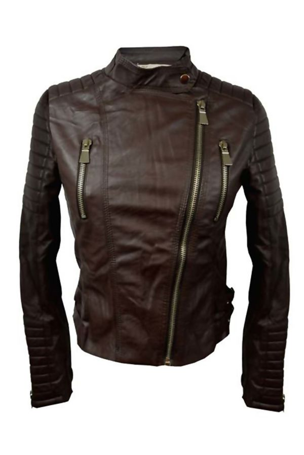 Brown Classic Motor Bike Jacket