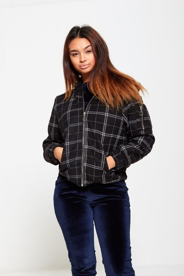 Tartan Zip Up Hooded Jacket