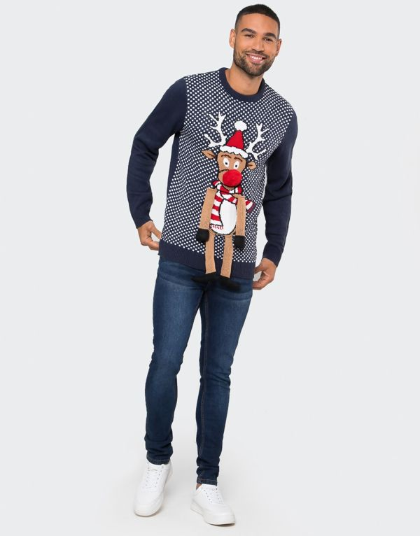 Navy Duffus With Legs Christmas Jumper Pre-Order