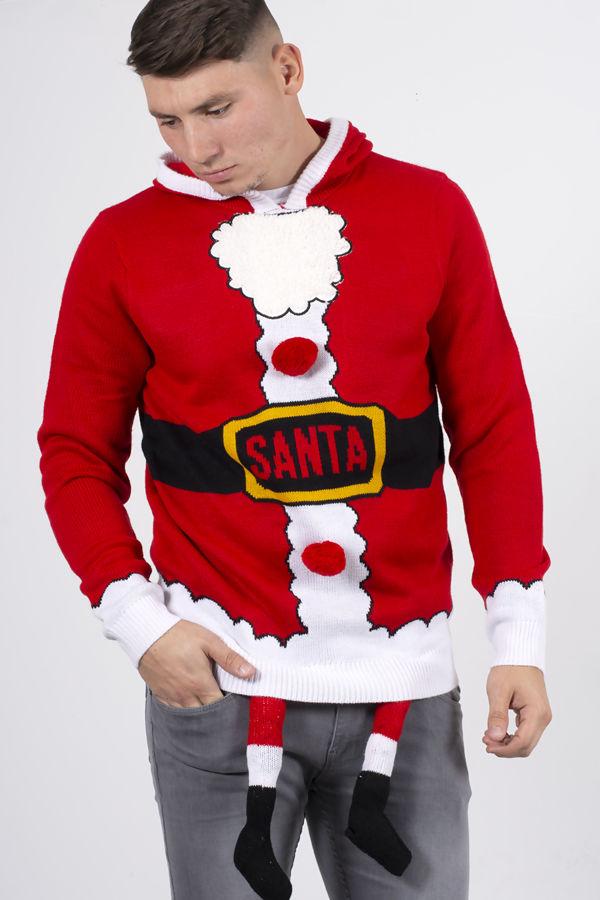 Red Santa Costume Christmas Jumper