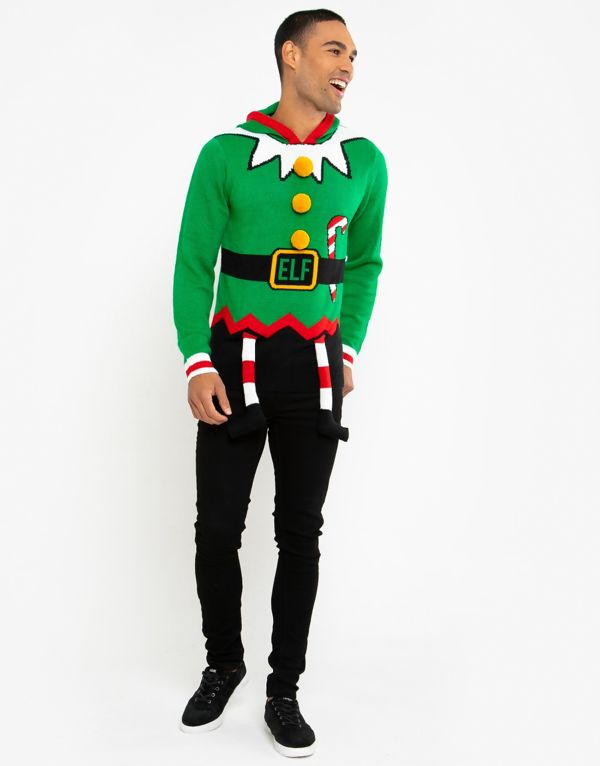 Green Elf Costume Christmas Jumper Pre-Order