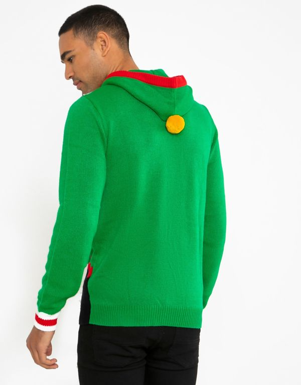 Green Elf Costume Christmas Jumper