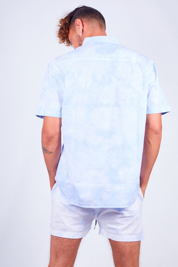 Tie Dye Print Shirt and Swim Short Set