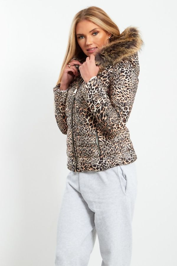 Tiger Fur Hood Jacket