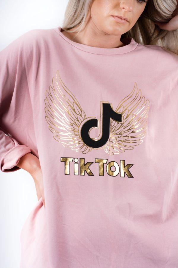 TikTok Logo Dip Hem Sweat Top