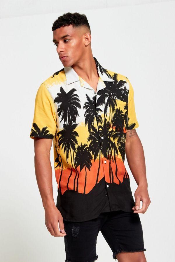 Tropical Sunset Print Shirt